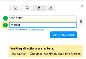 Walking directions are in beta