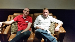 Colin Goudie (l) and Charles Connell (r) relaxing after their talk (Photo: Maurits van der Vlugt)